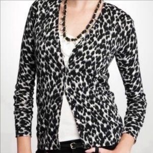 Ann Taylor Silk + Cashmere Blend Cheetah Cardigan